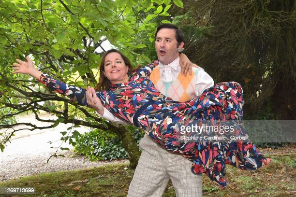 "Actress Laure Calamy and director Nicolas Maury attend the ""Garcon Chiffon"" Photocall at 13th Angouleme French-Speaking Film Festival on August 30,..."