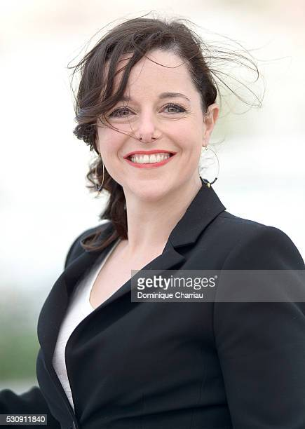 Actress Laure Calamy attends the Staying Vertical photocall during the 69th annual Cannes Film Festival at the Palais des Festivals on May 12 2016 in...