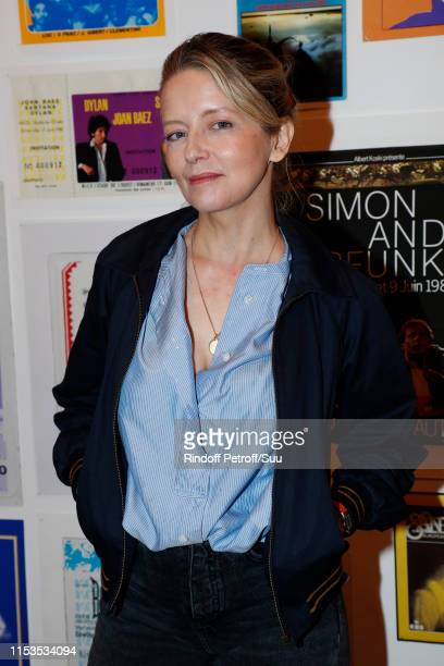 Actress Laure Marsac attends Albert Koski exposes its Rock&Roll Posters Collection at Galerie Laurent Godin on June 03, 2019 in Paris, France.