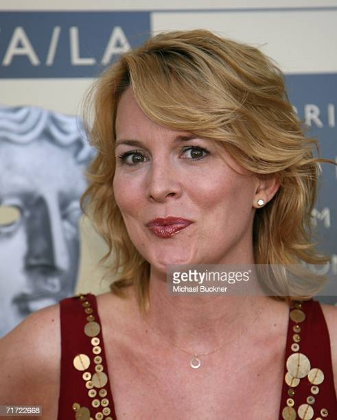 Actress Laurel Holloman arrives at the BAFTA/LAAcademy of Television Arts and Sciences Tea Party at the Century Hyatt on August 26 2006 in Century...