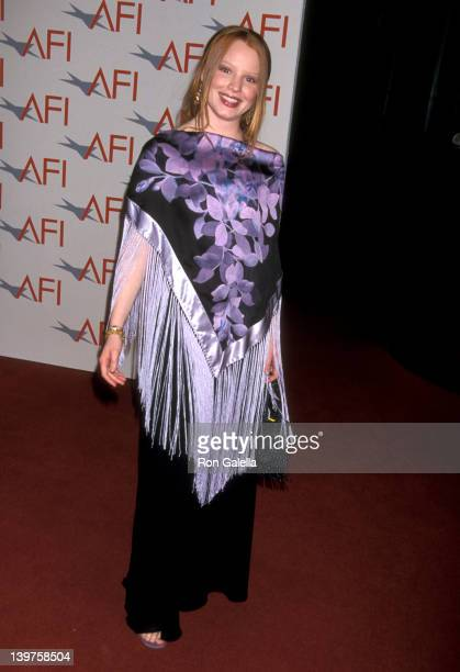 Actress Lauren Ambrose attends 30th Annual American Film Institute Lifetime Achievement Awards Honoring Tom Hanks on January 14 2002 at the Kodak...