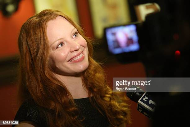 Actress Lauren Ambrose attends the after party for the opening night of 'Exit the King' on Broadway at Sardi's on March 26 2009 in New York City