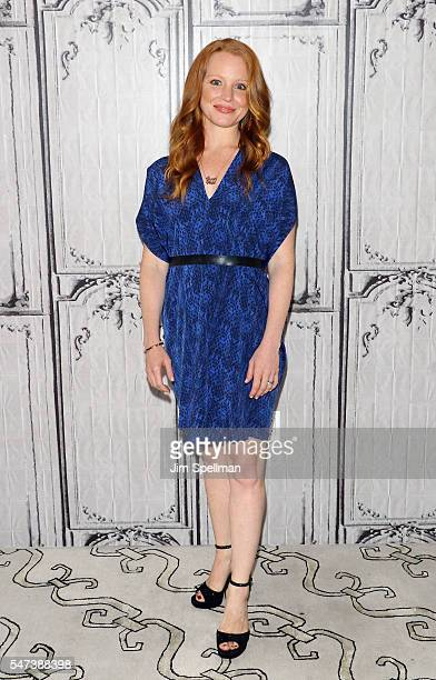 Actress Lauren Ambrose attends the AOL Build Speaker Series Lauren Ambrose and David Krumholtz 'The Interestings' at AOL HQ on July 14 2016 in New...