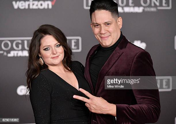 Actress Lauren Ash and guest attend the premiere of Walt Disney Pictures and Lucasfilm's Rogue One A Star Wars Story at the Pantages Theatre on...