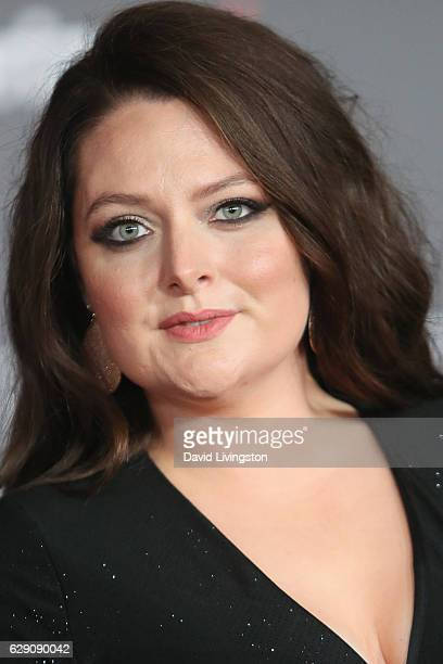 Actress Lauren Ash arrives at the premiere of Walt Disney Pictures and Lucasfilm's 'Rogue One A Star Wars Story' at the Pantages Theatre on December...