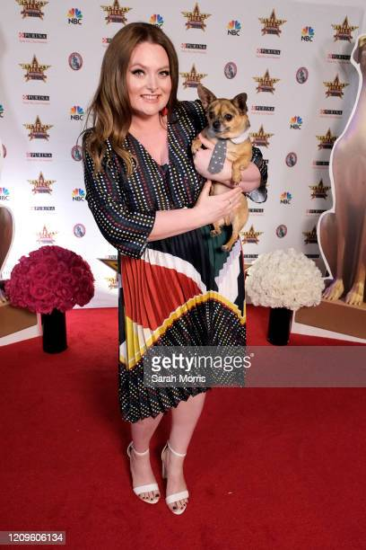 Actress Lauren Ash attends the 2020 Beverly Hills Dog Show at the Los Angeles County Fairplex on February 29, 2020 in Pomona, California.
