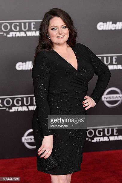 Actress Lauren Ash attends the premiere of Walt Disney Pictures and Lucasfilm's Rogue One A Star Wars Story at the Pantages Theatre on December 10...