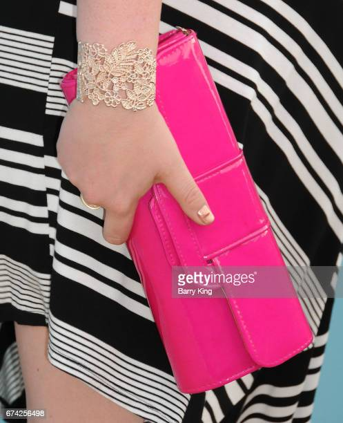 Actress Lauren Ash, purse detail, attends LA Family Housing 2017 awards at The Lot on April 27, 2017 in West Hollywood, California.