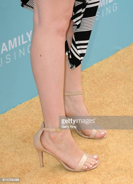 Actress Lauren Ash, shoe detail, attends LA Family Housing 2017 awards at The Lot on April 27, 2017 in West Hollywood, California.