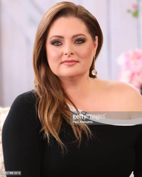 """Actress Lauren Ash visits Hallmark Channel's """"Home & Family"""" at Universal Studios Hollywood on February 21, 2020 in Universal City, California."""