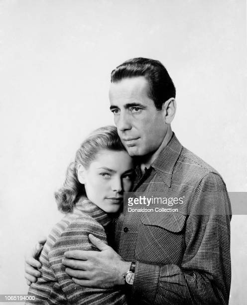 """Actress Lauren Bacall and Humphrey Bogart in a scene from the movie""""Key Largo"""""""