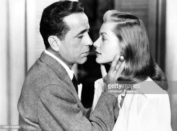 Actress Lauren Bacall and Humphrey Bogart in a scene from the movieDark Passage