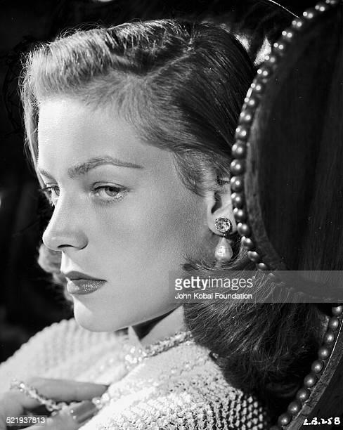 Actress Lauren Bacall in a promotional headshot for Warner Bros Studios 1944