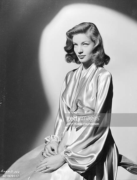 Actress Lauren Bacall, in a promotional shot for Warner Bros. Studios, 1945.