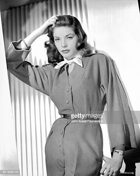 Actress Lauren Bacall in a promotional shot for Warner Bros Studios 1945