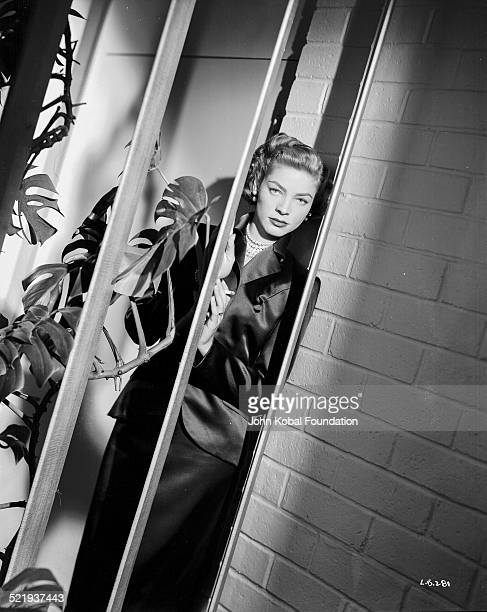 Actress Lauren Bacall in a promotional shot for Warner Bros Studios 1949