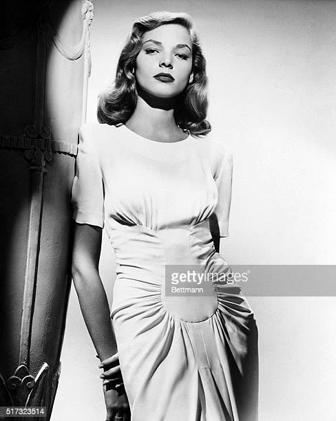 Actress Lauren Bacall in one of a series of publicity poses 1945
