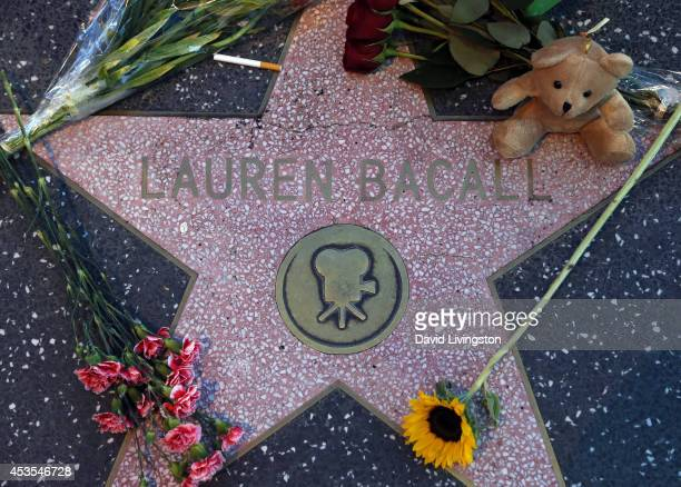 Actress Lauren Bacall is remembered at her Star on the Hollywood Walk of Fame on August 12 2014 in Hollywood California