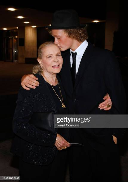 Actress Lauren Bacall with grandson Jasper Robards at the opening night of the Roundabout Theaters OffBroadway production of The Overwhelming at the...