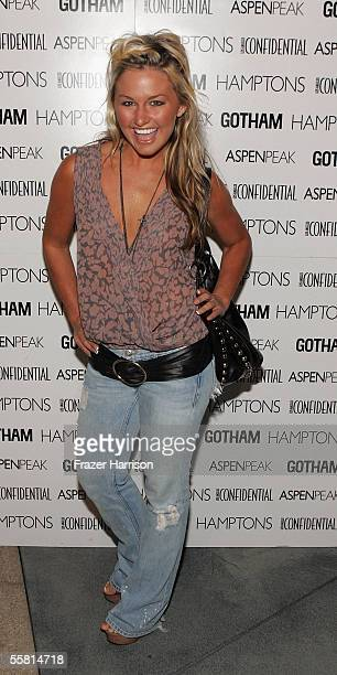Actress Lauren Bergfeld poses at the LA Confidential Magazine hosted book launch party for Holly Robinson Peete's Get Your Own Damn Beer I'm Watching...