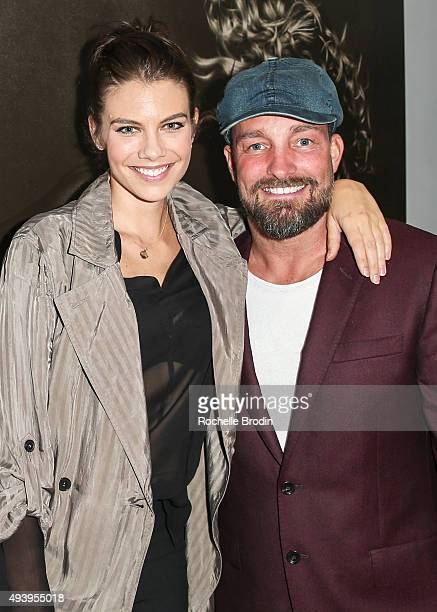 Actress Lauren Cohan and Brian Bowen Smith attend 'Metallic Life' by Brian Bowen Smithbrought to you by CASAMIGOS Tequila at De Re Gallery on October...