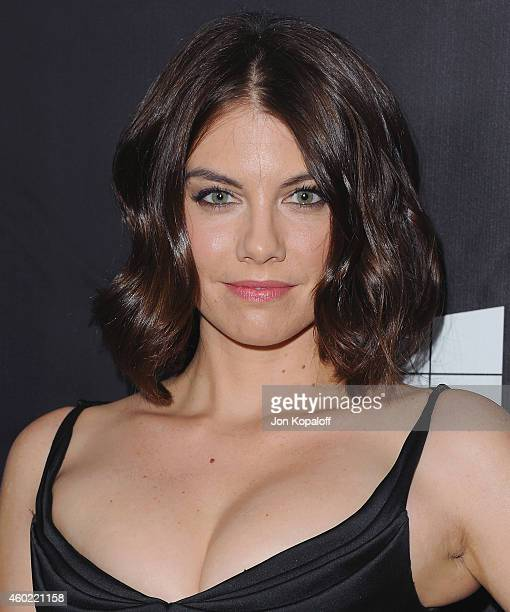 Actress Lauren Cohan arrives at the 2014 amfAR LA Inspiration Gala at Milk Studios on October 29, 2014 in Hollywood, California.