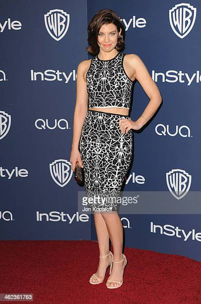 Actress Lauren Cohan arrives at the 2014 InStyle And Warner Bros. 71st Annual Golden Globe Awards Post-Party on January 12, 2014 in Beverly Hills,...