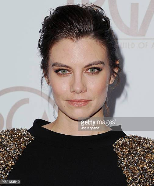 Actress Lauren Cohan arrives at the 26th Annual PGA Awards at the Hyatt Regency Century Plaza on January 24 2015 in Los Angeles California
