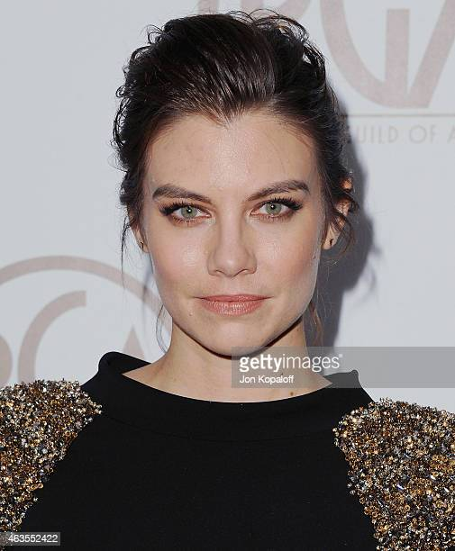 Actress Lauren Cohan arrives at the 26th Annual PGA Awards at the Hyatt Regency Century Plaza on January 24, 2015 in Los Angeles, California.