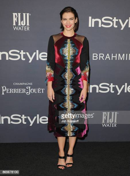 Actress Lauren Cohan arrives at the 3rd Annual InStyle Awards at The Getty Center on October 23 2017 in Los Angeles California