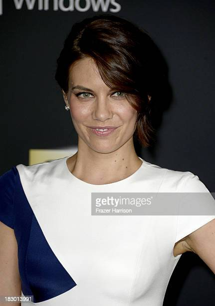 "Actress Lauren Cohan arrives at the premiere of AMC's ""The Walking Dead"" 4th season at Universal CityWalk on October 3, 2013 in Universal City,..."