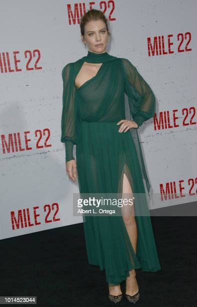 Actress Lauren Cohan arrives for the Premiere Of STX Films' 'Mile 22' held at Westwood Village Theatre on August 9 2018 in Westwood California
