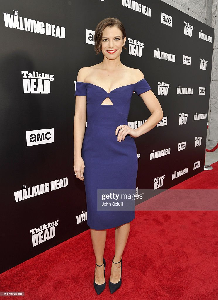Actress Lauren Cohan attends AMC presents 'Talking Dead Live' for the premiere of 'The Walking Dead' at Hollywood Forever on October 23, 2016 in Hollywood, California.