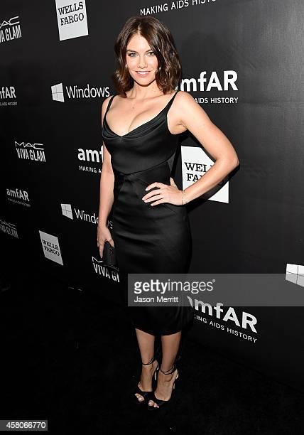 Actress Lauren Cohan attends amfAR LA Inspiration Gala honoring Tom Ford at Milk Studios on October 29 2014 in Hollywood California