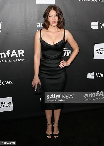 Actress Lauren Cohan attends amfAR LA Inspiration Gala honoring Tom Ford at Milk Studios on October 29, 2014 in Hollywood, California.
