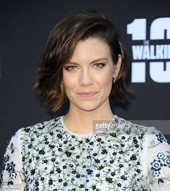 Actress Lauren Cohan attends the 100th episode celebration off 'The Walking Dead' at The Greek Theatre on October 22 2017 in Los Angeles California