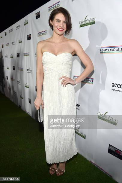 Actress Lauren Cohan attends the 12th Annual USIreland Aliiance's Oscar Wilde Awards event at Bad Robot on February 23 2017 in Santa Monica California