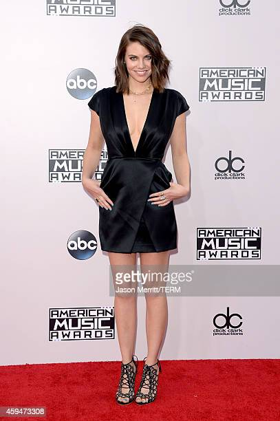 Actress Lauren Cohan attends the 2014 American Music Awards at Nokia Theatre L.A. Live on November 23, 2014 in Los Angeles, California.