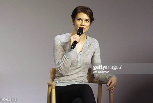 Actress Lauren Cohan attends the Apple Store Soho Presents Meet the Actor Lauren Cohan 'The Walking Dead' at Apple Store Soho on February 9 2016 in...