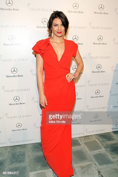 Actress Lauren Cohan attends The Art of Elysium's 7th Annual HEAVEN Gala presented by Mercedes-Benz at Skirball Cultural Center on January 11, 2014...