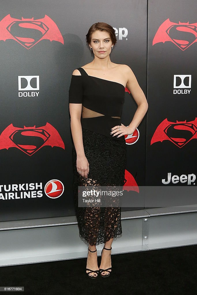 Actress Lauren Cohan attends the 'Batman v. Superman: Dawn of Justice' premiere at Radio City Music Hall on March 20, 2016 in New York City.