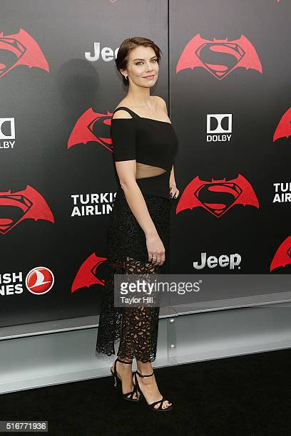 Actress Lauren Cohan attends the 'Batman v Superman Dawn of Justice' premiere at Radio City Music Hall on March 20 2016 in New York City