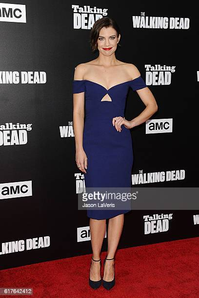 Actress Lauren Cohan attends the live 90minute special edition of 'Talking Dead' at Hollywood Forever on October 23 2016 in Hollywood California