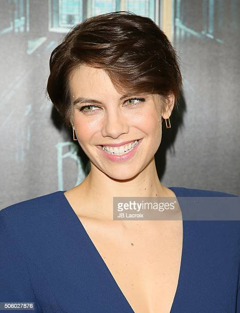 Actress Lauren Cohan attends the premiere of STX Entertainment's 'The Boy' at Cinemark Playa Vista on January 20 2016 in Los Angeles California