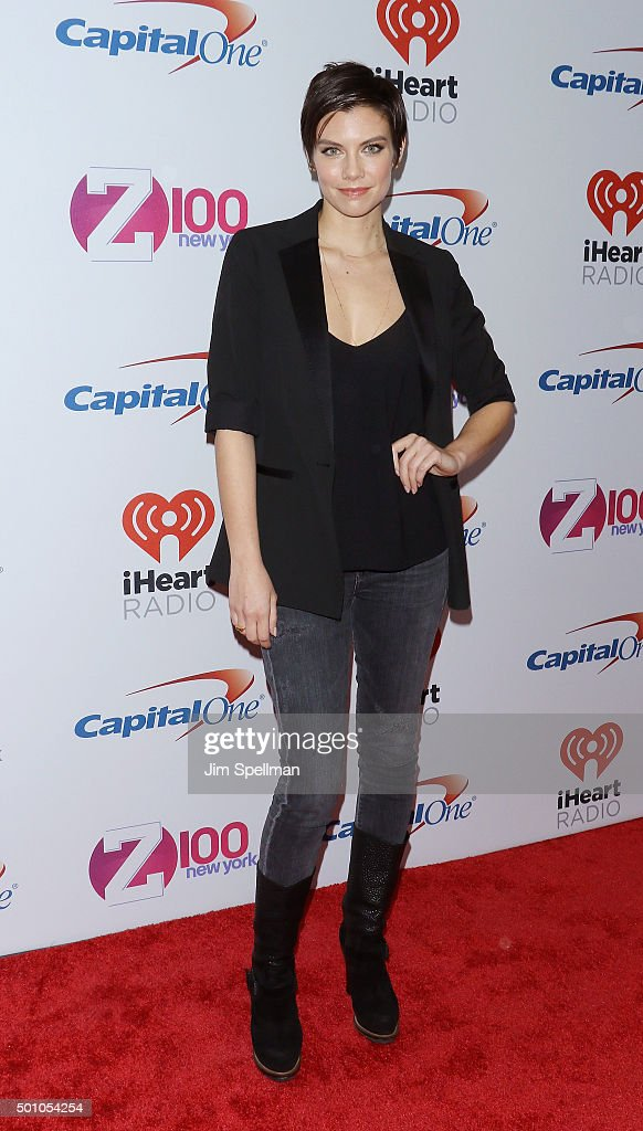 Actress Lauren Cohan attends the Z100's iHeartRadio Jingle Ball 2015 at Madison Square Garden on December 11, 2015 in New York City.