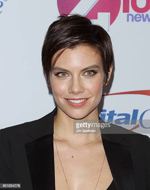 Actress Lauren Cohan attends the Z100's iHeartRadio Jingle Ball 2015 at Madison Square Garden on December 11 2015 in New York City