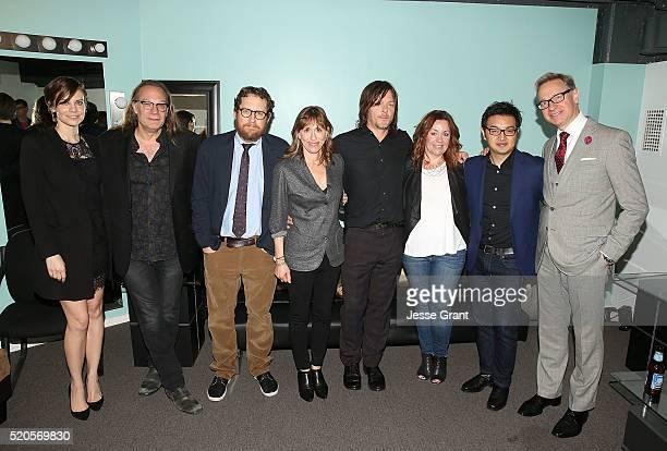 Actress Lauren Cohan executive producer/director Greg Nicotero executive producer/writer Scott M Gimple casting direcor Sharon Bialy actor Norman...