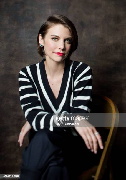 Actress Lauren Cohan is photographed from AMC's 'The Walking Dead is photographed during Paley Fest for Los Angeles Times on March 17 2017 in Los...