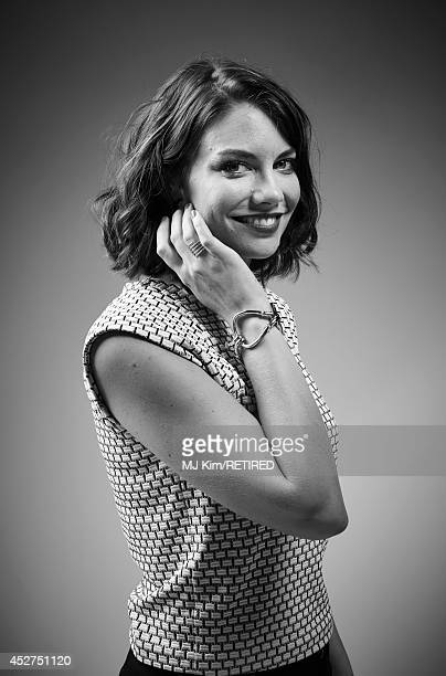 Actress Lauren Cohan poses for a portrait at the Getty Images Portrait Studio powered by Samsung Galaxy at ComicCon International 2014 at Hard Rock...