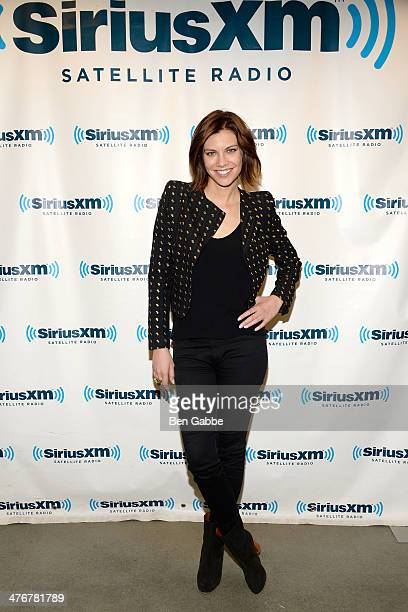 Actress Lauren Cohan visits at SiriusXM Studios on March 5, 2014 in New York City.